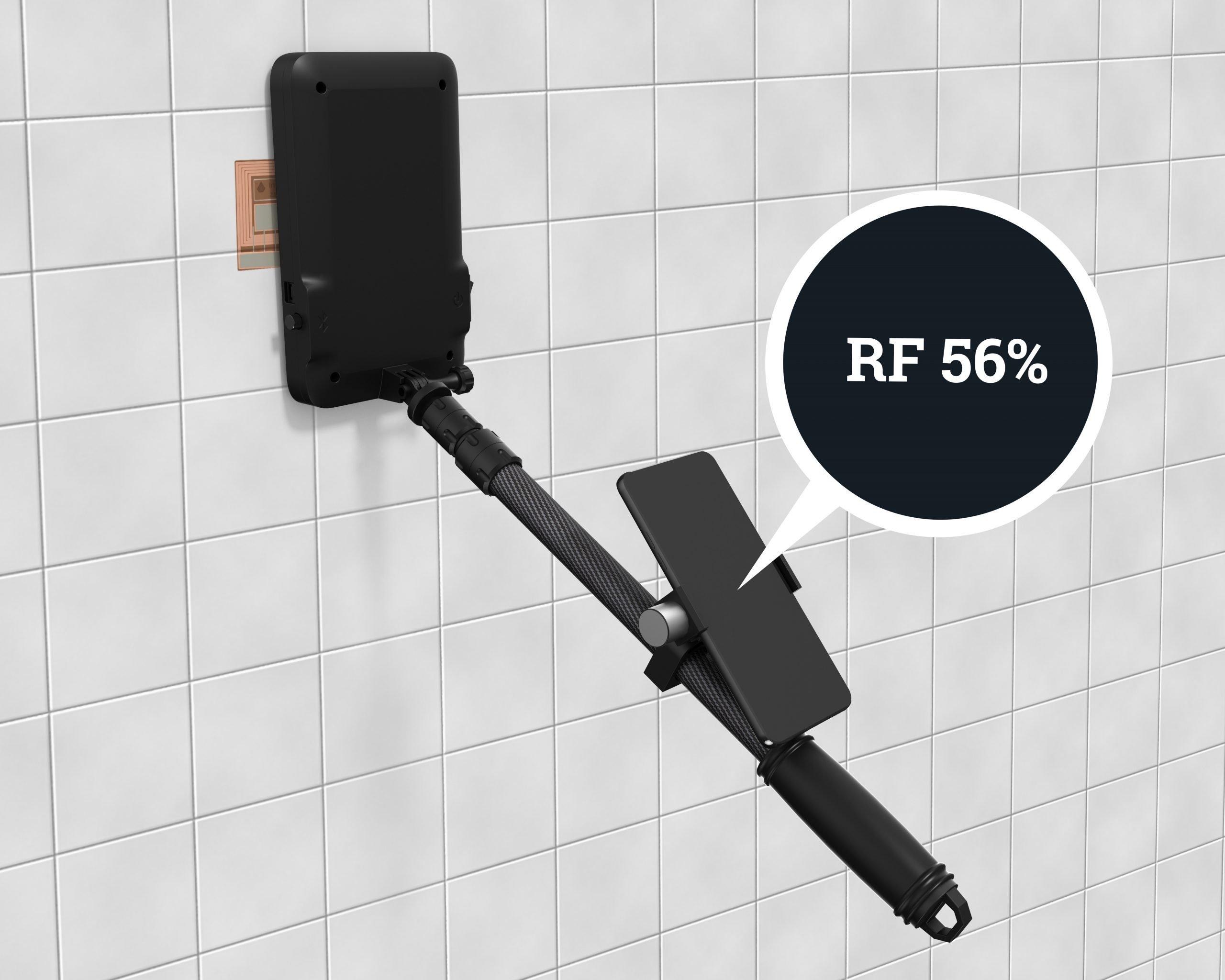 Passive moisture sensor build into wall, floors and roofs