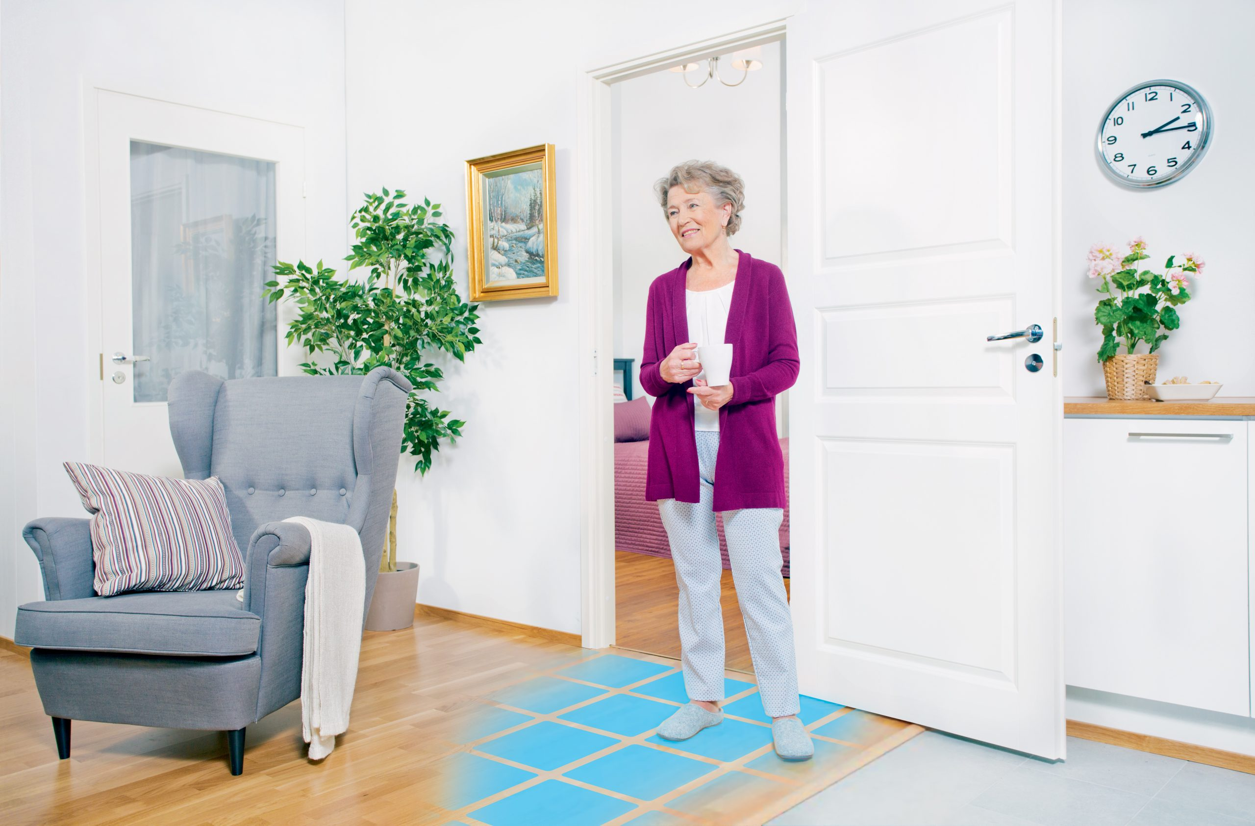 Smart floor systems for health care and nursing homes